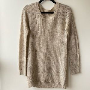 Alice & Olivia Tan Knit Sequin Sweater